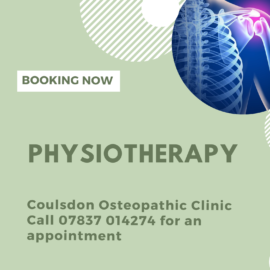 We now offer Physiotherapy at our Coulsdon Clinic!
