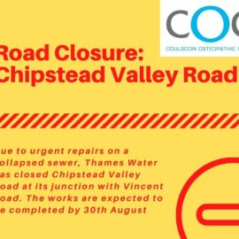 Travel Update: Chipstead Valley Road closed